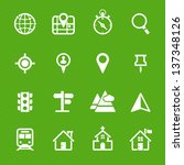 map icons and location icons... | Shutterstock .eps vector #137348126