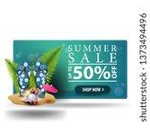 modern summer discount green 3d ... | Shutterstock .eps vector #1373494496