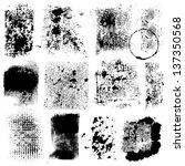 Grunge Textures - for design or scrapbook - vector set | Shutterstock vector #137350568