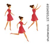 a set of three graceful poses...   Shutterstock .eps vector #1373509559