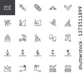 outdoors  recreation line icons ... | Shutterstock .eps vector #1373511899