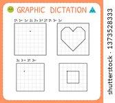 graphic dictation. preschool... | Shutterstock .eps vector #1373528333