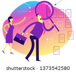 flat design illustration for... | Shutterstock .eps vector #1373542580