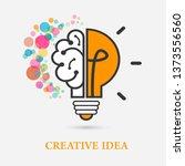 creative idea logo with a half... | Shutterstock .eps vector #1373556560