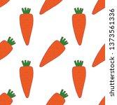 carrot seamless pattern for... | Shutterstock .eps vector #1373561336
