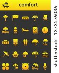 comfort icon set. 26 filled... | Shutterstock .eps vector #1373576036