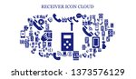 receiver icon set. 93 filled... | Shutterstock .eps vector #1373576129