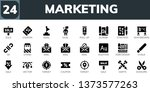 marketing icon set. 24 filled... | Shutterstock .eps vector #1373577263