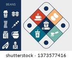 beans icon set. 13 filled beans ... | Shutterstock .eps vector #1373577416
