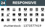 responsive icon set. 24 filled... | Shutterstock .eps vector #1373577419