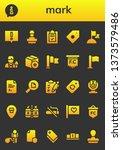mark icon set. 26 filled mark...