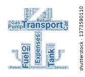 petrol station word cloud. tag... | Shutterstock .eps vector #1373580110