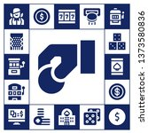 bet icon set. 17 filled bet... | Shutterstock .eps vector #1373580836