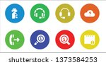 answer icon set. 8 filled... | Shutterstock .eps vector #1373584253