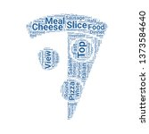 pizza slice word cloud. tag...