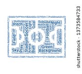 pitch word cloud. tag cloud... | Shutterstock .eps vector #1373584733