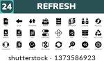refresh icon set. 24 filled... | Shutterstock .eps vector #1373586923