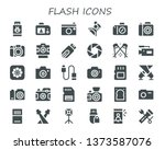 flash icon set. 30 filled flash ... | Shutterstock .eps vector #1373587076