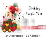 birthday background | Shutterstock .eps vector #13735894