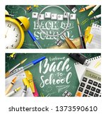 back to school headers or... | Shutterstock .eps vector #1373590610
