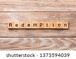 Redemption Word Written On Wood ...
