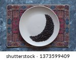 moon shape laid out coffee... | Shutterstock . vector #1373599409
