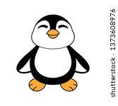 cute baby penguin icon in flat...   Shutterstock .eps vector #1373608976