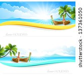paradise island backgrounds | Shutterstock .eps vector #137361050
