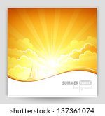sunny background | Shutterstock .eps vector #137361074