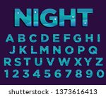 abstract night typography... | Shutterstock .eps vector #1373616413