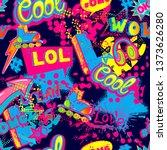 abstract seamless grunge... | Shutterstock .eps vector #1373626280
