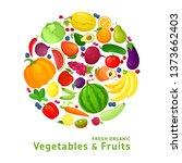 vector illustration with fresh... | Shutterstock .eps vector #1373662403