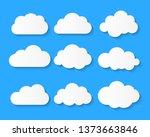 white blank  cloud symbol or... | Shutterstock .eps vector #1373663846