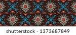 seamless floral pattern.... | Shutterstock .eps vector #1373687849