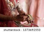 indian bridal bridal wearing... | Shutterstock . vector #1373692553