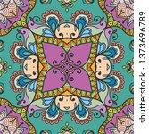 hand drawn seamless pattern ... | Shutterstock .eps vector #1373696789