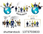 happy labor day. greeting... | Shutterstock .eps vector #1373703833