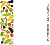 vertical frame of fresh... | Shutterstock .eps vector #1373703980