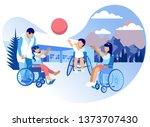 rehabilitation and adaptation... | Shutterstock .eps vector #1373707430