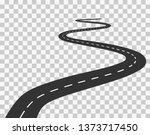 long winding road.... | Shutterstock .eps vector #1373717450