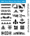 ornate flourishes in vector... | Shutterstock .eps vector #137371934