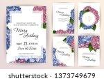 set of wedding invitation card... | Shutterstock . vector #1373749679