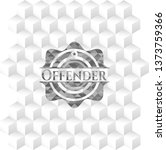 offender grey badge with... | Shutterstock .eps vector #1373759366