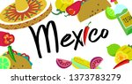 poster with the theme of mexico....   Shutterstock .eps vector #1373783279