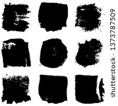 dry brush strokes. abstract... | Shutterstock .eps vector #1373787509