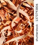 mahogany woodturning chips... | Shutterstock . vector #1373793806