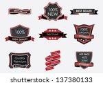 vintage black  badges  vector | Shutterstock .eps vector #137380133