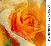 Art Orange Roses  Colorful...