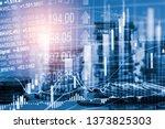 stock market or forex trading... | Shutterstock . vector #1373825303
