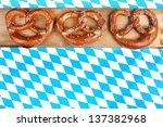 blue white bavarian heart on... | Shutterstock . vector #137382968